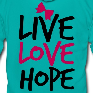 LIVE LOVE HOP with a  bow cute! Zip Hoodies/Jackets - Unisex Fleece Zip Hoodie by American Apparel