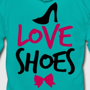 LOVE SHOES! with shoe bow and  Zip Hoodies/Jackets - Unisex Fleece Zip Hoodie by American Apparel