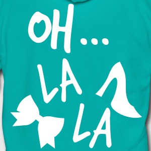 OH LA LA french vintage funny Zip Hoodies/Jackets - Unisex Fleece Zip Hoodie by American Apparel