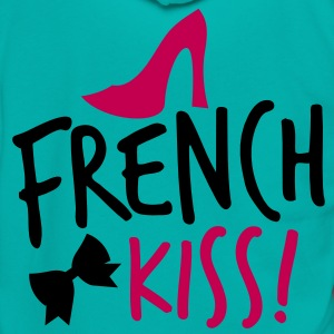 french kiss with a cute bow and a shoe Zip Hoodies/Jackets - Unisex Fleece Zip Hoodie by American Apparel