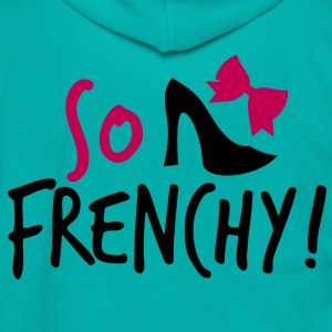 So Frenchy! with a shoe and a bow Zip Hoodies/Jackets - Unisex Fleece Zip Hoodie by American Apparel