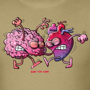 Hearth vs Brain T-Shirts - Men's T-Shirt