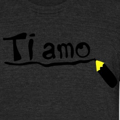 Love you in Italian Ti amo Men's Tri-Blend Vintage T-Shirt by American Apparel