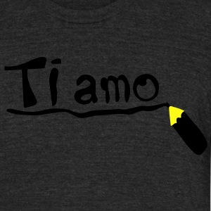 Love you in Italian Ti amo Men's Tri-Blend Vintage T-Shirt by American Apparel - Unisex Tri-Blend T-Shirt