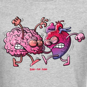 Hearth vs Brain Long Sleeve Shirts - Crewneck Sweatshirt