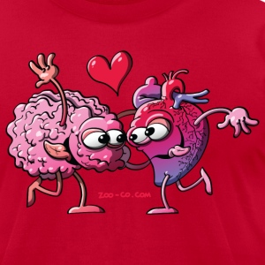 Hearth and Brain: A Love Story T-Shirts - Men's T-Shirt by American Apparel