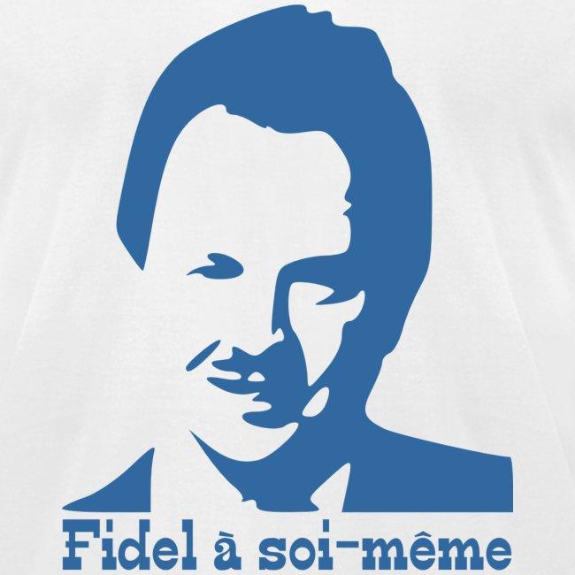 Fidel à soi-même homme court bleu