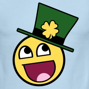 St Patricks Day Smiley - Men's Ringer T-Shirt