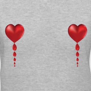 Lady's V Heart Balloons! - Women's V-Neck T-Shirt
