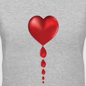 Lady's V Crying Heart / Bleeding Heart - Women's V-Neck T-Shirt