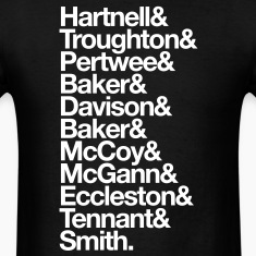 Doctor Who Actors' Last Names White T-Shirts