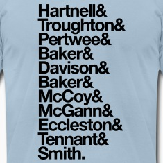 Doctor Who Actors' Last Names T-Shirts