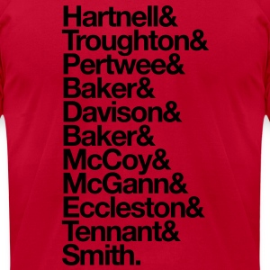 Doctor Who Actors' Last Names T-Shirts - Men's T-Shirt by American Apparel