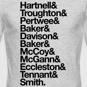 Doctor Who Actors' Last Names Long Sleeve Shirts - Men's Long Sleeve T-Shirt by Next Level