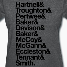 Doctor Who Actors' Last Names Women's T-Shirts