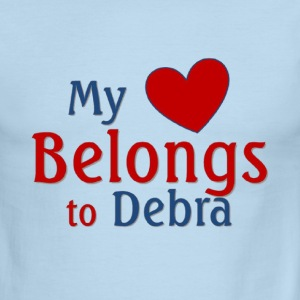 Heart belongs to Debra - Men's Ringer T-Shirt