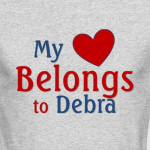 Heart belongs to Debra - Men's Long Sleeve T-Shirt by Next Level