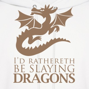 I'd Rather Be Slaying Dragons - Men's Hoodie