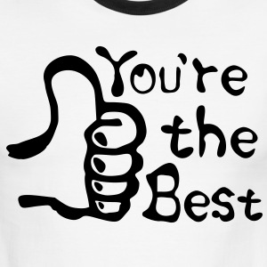 You're the Best  thumbs up Men's Ringer T-Shirt by American Apparel - Men's Ringer T-Shirt