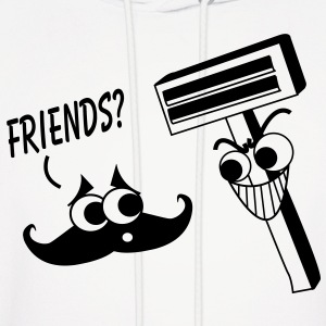 Moustache & Shaver - Friends? Hoodies - Men's Hoodie