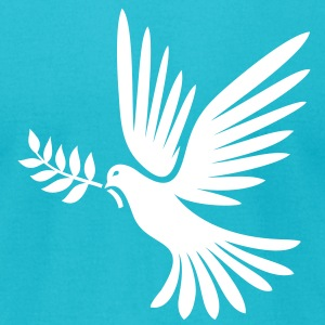 Peaceful Dove - Men's T-Shirt by American Apparel