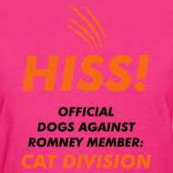 Design ~ Official Dogs Against Romney Cat Division Women's Tee