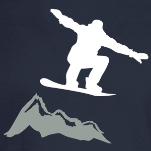 Snowboarder jump Mountain Long Sleeve Shirts - Men's Long Sleeve T-Shirt