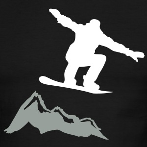 Snowboarder jump Mountain T-Shirts - Men's Ringer T-Shirt