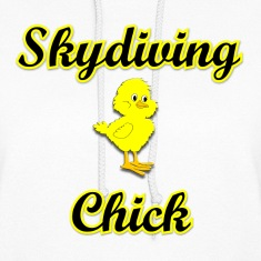Skydiving Chick Hoodies