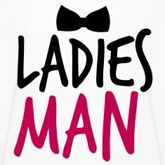 LADIES MAN with a black bow tie event Kids' Shirts