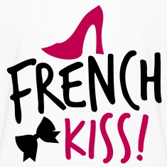 french kiss with a cute bow and a shoe Kids' Shirts