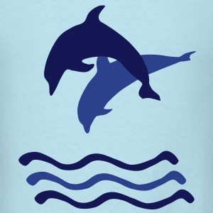 Dolphins and Waves T-Shirts - Men's T-Shirt
