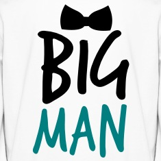 BIG MAN with a black Bow Tie Kids' Shirts