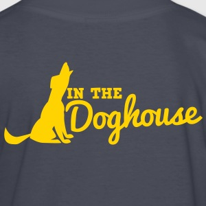 howling dog in the doghouse Kids' Shirts - Kids' Long Sleeve T-Shirt