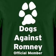 Design ~ Official Dogs Against Romney Basic Mens Tee