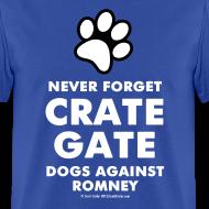 Design ~ Official Dogs Against Mitt Romney Dog On Roof T-Shirt