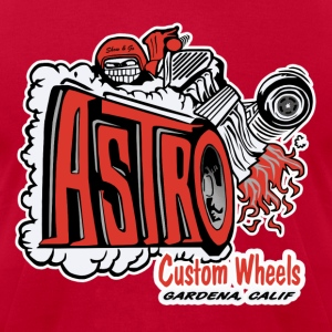 Astro Wheels T-Shirts - Men's T-Shirt by American Apparel