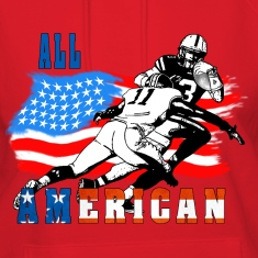 All American Football player 6 Hoodies