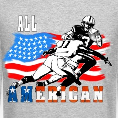 All American Football player 6 white T Long Sleeve Shirts