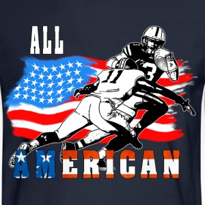 All American Football player 6 white T Long Sleeve Shirts - Men's Long Sleeve T-Shirt