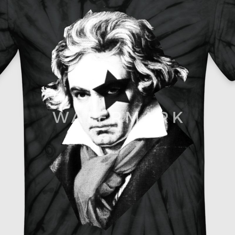 Beethoven rock Kiss Black Metal T-Shirts - Unisex Tie Dye T-Shirt