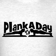 Design ~ PlankADay/'Will Plank for Six Pack' Mens T-shirt