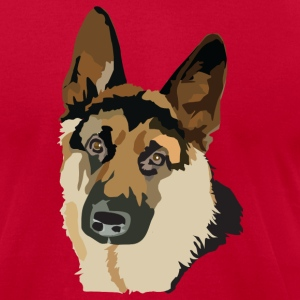 German Shepherd - Men's T-Shirt by American Apparel