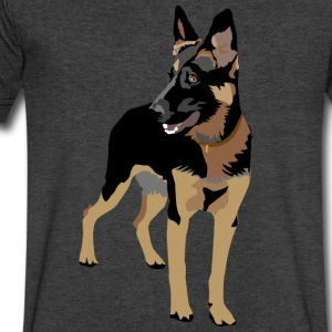 German Shepherd - Men's V-Neck T-Shirt by Canvas