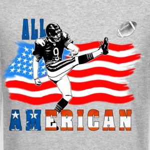 All American Football Field Goal Kicker Long Sleeve Shirts - Crewneck Sweatshirt