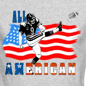 All American Football Field Goal Kicker Long Sleeve Shirts - Men's Long Sleeve T-Shirt by Next Level
