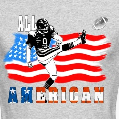 All American Football Field Goal KickerWhite T Long Sleeve Shirts