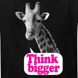 giraffe think bigger saying Kids' Shirts - Kids' T-Shirt