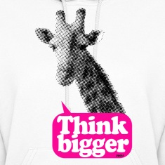 giraffe think bigger saying Hoodies