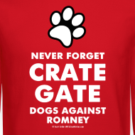 Design ~ Official dogs Against Romney Crate Gate Sweatshirt